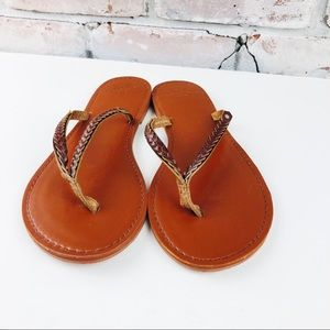 Abercrombie & Finch Braided Leather Sandals 9-10